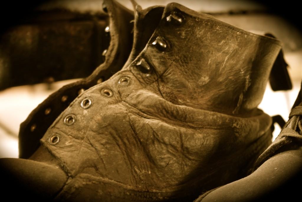 I always wonder who wore these lovely old boot's.
